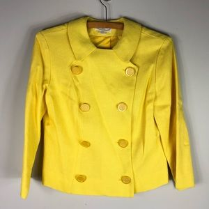 Vintage Yellow Jacket Coat Double Breasted